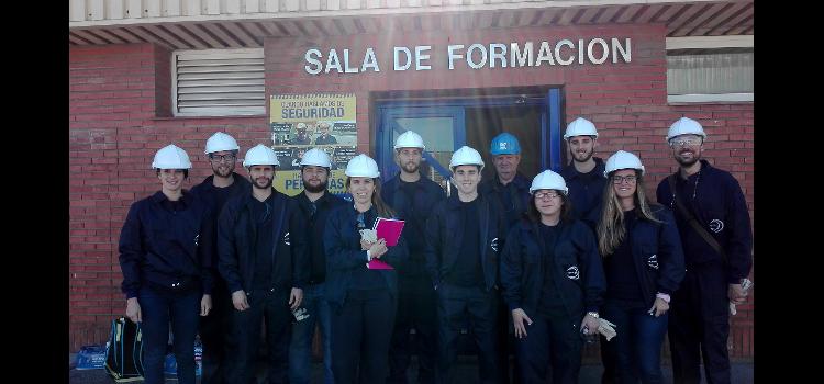 El alumnado del Máster en Ingeniería Industrial de Algeciras comienza su docencia práctica en Acerinox Europa